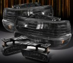 2005 Chevy Suburban Black Headlights Set and Smoked Fog Lights