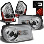 Chrysler 300C 2005-2007 Chrome Projector Headlights DRL and LED Tail Lights