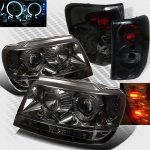 2000 Jeep Grand Cherokee Smoked Halo Projector Headlights and Tail Lights