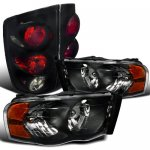 Dodge Ram 2500 2003-2005 Black Headlights and Smoked Tail Lights