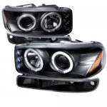 2003 GMC Sierra Black Halo Projector Headlights and Bumper Lights Set