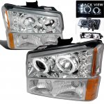 2005 Chevy Avalanche Clear Projector Headlights and Bumper Lights