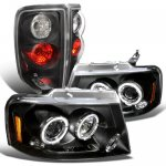 2004 Ford F150 Black Projector Headlights and Tail Lights