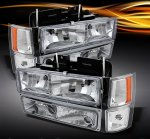 1998 Chevy 1500 Pickup Clear Euro Headlights and Bumper Lights