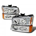 2005 Chevy Avalanche Chrome Projector Headlights and Bumper Lights