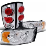 2002 Dodge Ram Chrome Headlights and Tail Lights