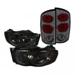 2002 Dodge Ram Smoked Headlights and Tail Lights