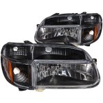 Ford Explorer 1995-2001 Headlights and Corner Lights Black