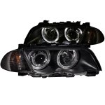2000 BMW 3 Series Sedan Projector Headlights and Corner Lights Black Halo