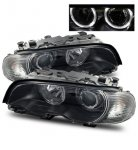 2001 BMW 3 Series Coupe Projector Headlights and Corner Lights Black Halo