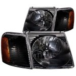2003 Ford Explorer Sport Trac Headlights and Corner Lights Black