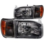 Nissan Pathfinder 2000-2004 Black Headlights and Corner Lights