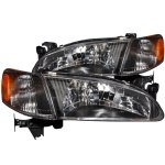 Toyota Corolla 1998-2000 Black Headlights and Corner Lights