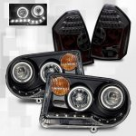 Chrysler 300C 2005-2007 Black Projector Headlights and Smoked LED Tail Lights
