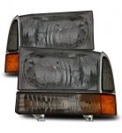 2001 Ford Excursion Crystal Headlights and Corner Lights Smoked