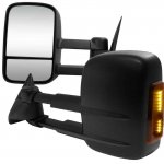 1999 Chevy Suburban Black Power Heated LED Signal Towing Mirrors
