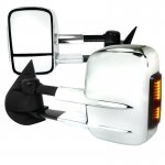 Chevy Silverado 2007-2013 Towing Mirrors Power Heated Chrome LED Signal Lights