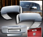 Dodge Ram 3500 2010-2012 Chrome Mirror Covers and Tailgate Handle Cover