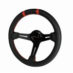 Black Leather 330mm Deep Dish Steering Wheel