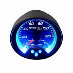 Black 2 Inches Oil Pressure Gauge