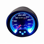 Black 2 Inches Oil Temperature Gauge