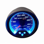 Black 2 Inches Water Temperature Gauge