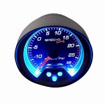 Black 2 Inches Boost Gauge
