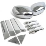 2008 Chrysler 300 Chrome Side Mirror Covers with Door Handles and Pillars