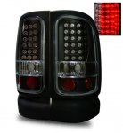 1997 Dodge Ram LED Tail Lights Black