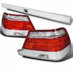 Mercedes Benz S Class 1995-1999 Tail Lights and Trunk Light Red and Clear