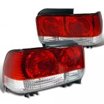 Toyota Corolla 1993-1997 Custom Tail Lights Red and Clear