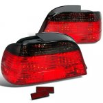 1996 BMW 7 Series Red and Smoked Custom Tail Lights