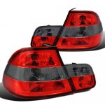 BMW 3 Series Coupe 2000-2003 Custom Tail Lights Red and Smoked
