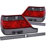 Mercedes Benz S Class 1997-1999 Custom Tail Lights Red and Smoked
