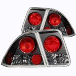 Honda Civic Sedan 2001-2005 Black Custom Tail Lights