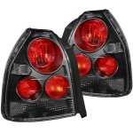 Honda Civic Hatchback 1996-2000 Black Custom Tail Lights