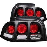 1994 Ford Mustang Black Custom Tail Lights