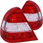 1995 Mercedes Benz C Class Sedan Custom Tail Lights Red and Clear