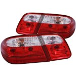 Mercedes Benz E Class Sedan 1996-2002 Custom Tail Lights Red and Clear