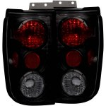 1999 Ford Expedition Black Smoked Custom Tail Lights