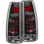 1998 GMC Sierra 2500 Black Custom Tail Lights