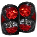 Jeep Liberty 2002-2007 Black Custom Tail Lights