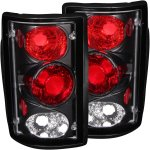 2001 Ford Excursion Black Custom Tail Lights
