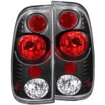 2007 Ford F350 Super Duty Black Custom Tail Lights