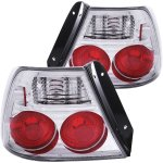Hyundai Accent 2000-2002 Chrome Custom Tail Lights