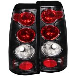 2002 Chevy Silverado 2500HD Black Custom Tail Lights