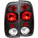 2002 Ford F250 Super Duty Carbon Fiber Custom Tail Lights