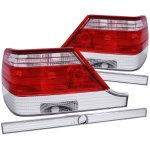 Mercedes Benz S Class 1997-1999 Custom Tail Lights Red and Clear