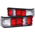 Mercedes Benz C Class 1982-1993 Custom Tail Lights Red and Clear