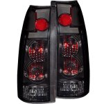 1998 GMC Sierra 2500 Black Smoked Custom Tail Lights